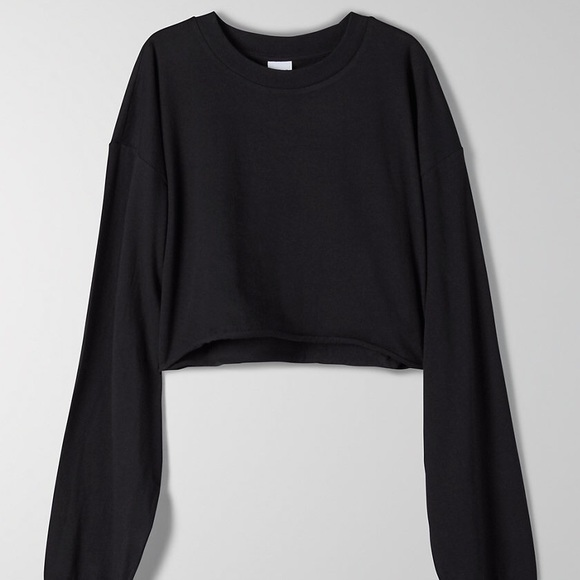 TNA Tour Cropped Longsleeve in Black
